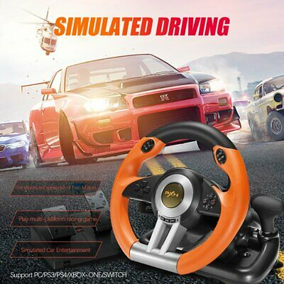 V3II Racing Game Steering Wheel With Brake Pedal F/ PC PS3 PS4 Xbox One Gift • 85.30$
