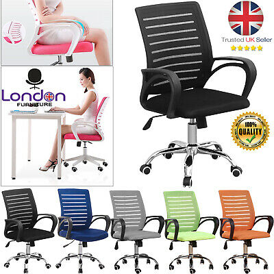 AU66.03 • Buy New Mesh Office Chair Adjustable Executive Swivel Computer PC Desk Seat Fabric