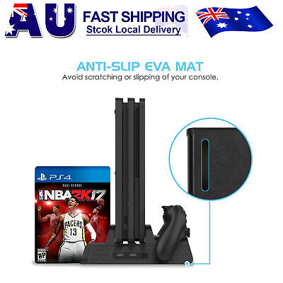 AU34.99 • Buy Vertical Cooling Fan Stand With Gamepad Charging Station For PS4/Slim/PS4 Pro