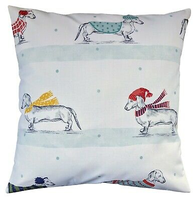 £8.99 • Buy Cushion Cover In Next Christmas Dachshund Sausage Dogs 16  Matches Bedding