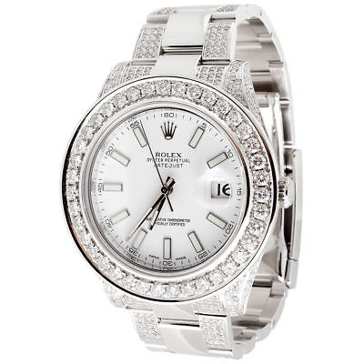 $ CDN21396.18 • Buy Men's Rolex DateJust II 2 Diamond White Stainless Steel 9.06 Ct 41mm Watch