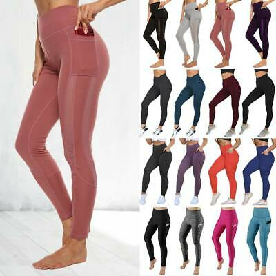 AU15.69 • Buy Women's High Waisted Yoga Pants Leggings Sports Printed Ftiness Gym Trousers A14