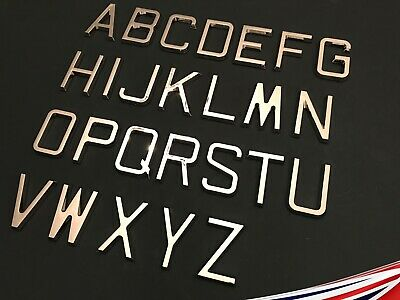 £1.99 • Buy Self Adhesive Letters Chrome Retro 65mm. Personalised Walls, Signs, Doors