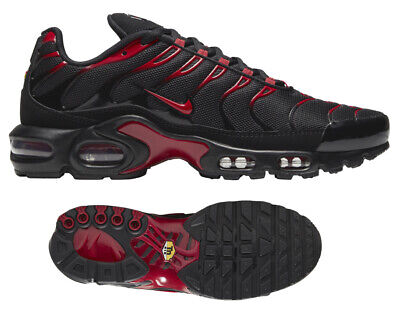 $164.99 • Buy New NIKE Air Max Plus TN Men's Athletic Sneakers Training Black Red All Sizes