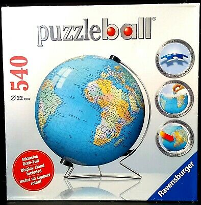 $39.95 • Buy NEW Ravensburger PuzzleBall Puzzle Ball Earth World Globe Rotates Display Stand