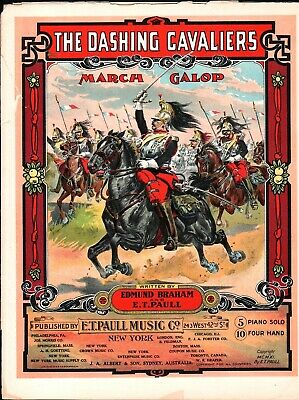 $24.99 • Buy The DASHING CAVALIERS 1911 E T PAULL Edmund Braham MARCH Sheet Music !