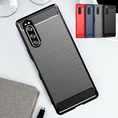 $ CDN5.40 • Buy For Sony Xperia 1 5 10 II L3 XZ3 XA2 Shockproof Carbon Fiber Silicone Case Cover