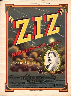 $39.99 • Buy ZIZ 1907 Feltman E T PAULL March Sheet Music LITHO Cover !