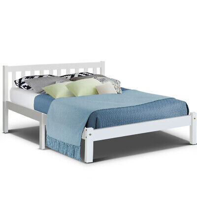 AU129 • Buy Artiss Wooden Bed Frame Single Double Full Queen King Size Bed Base Timber SOFIE