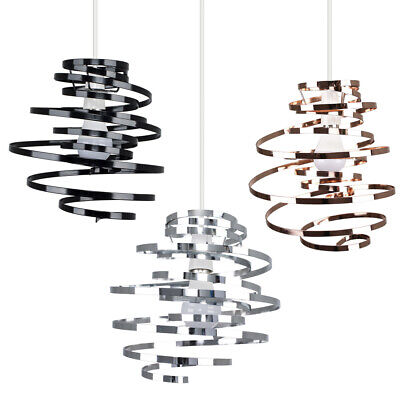 £13.99 • Buy Metal Pendant Swirl Shade MiniSun Non Electric Easy Fit Lounge Ceiling Lampshade