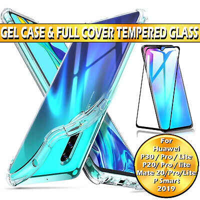 For Huawei Mate P20 30 Lite Pro P Smart Case / Full Cover Glass Screen Protector • 3.99£