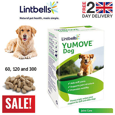Lintbells YuMOVE Dog Joint Supplement For Stiff And Older Dogs 60/120/300 Tabs • 16.69£