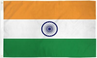 $6.48 • Buy 2x3 India Flag Indian Banner Country Pennant Indoor Outdoor 24x36 Inch New