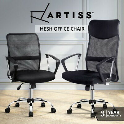 AU82.95 • Buy Artiss Gaming Office Chair Computer Chairs Mesh Back Foam Seat Black Work Study