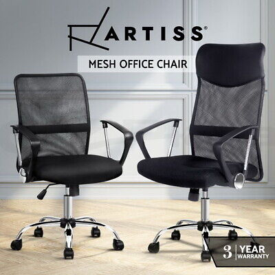 AU149 • Buy Artiss Office Chair Gaming Computer Chairs Mesh Back Foam Seat Black Work Study