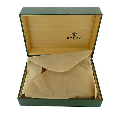 $ CDN187.08 • Buy Vintage Rolex Green Leather Box Wooden Interior With Pillow 68.00.08