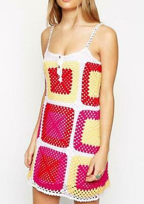 AU25 • Buy ASOS - Stunning Boho Chic Patchwork Crochet Dress - Size UK 16 New W/out Tags