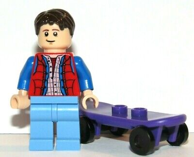 Genuine Lego Marty McFly Minifigure & Skateboard From Back To The Future 21103   • 6.99£
