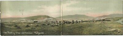 Pontypridd, Wales UK 1910 Postcard, Rocking Stone And Common, Panoramic View • 5.79£
