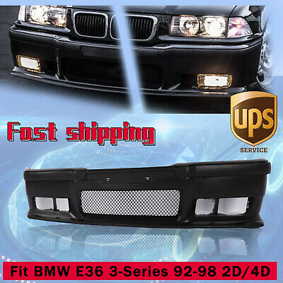 $108 • Buy Fit 92-98 BMW E36 3Series 1Pc M3 Style Replacement Front Bumper Body Kit+Grille