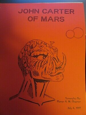 JOHN CARTER Of MARS, By FLEMEN CHAPMAN Unfilmed  Edgar Rice Burroughs Type Story • 19.99$