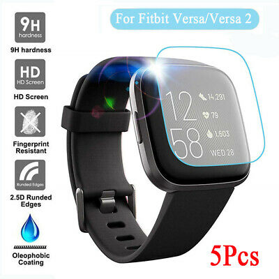 $ CDN4.95 • Buy 5-Pack Tempered Glass Screen Protector Guard For Fitbit Versa 2 & Versa / Lite