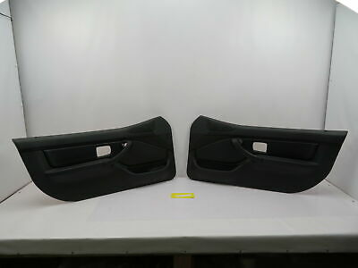$629.99 • Buy BMW Z3 M Roadster E36 #1087 Black Nappa Door Panel W/O Airbag Pair Left Right