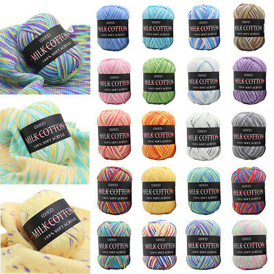 AU6.60 • Buy Mixed Lot 23 Color 50g Knitting Yarn Crochet Milk Soft Baby Cotton Wool Hot