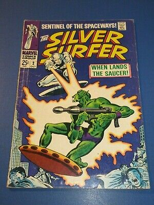 Silver Surfer #2 Silver Age 1st Badoon Solid VG- • 14.46$