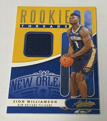 2019-20 Absolute Memorabilia ZION WILLIAMSON Rookie Threads Jersey Patch RC 🔥 • 9.99$