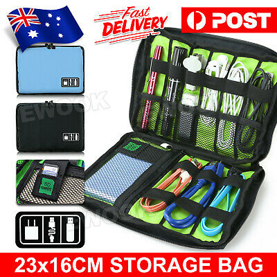 AU6.75 • Buy Electronic Accessories Storage Drive Travel Insert USB Cable Organizer Bag Case