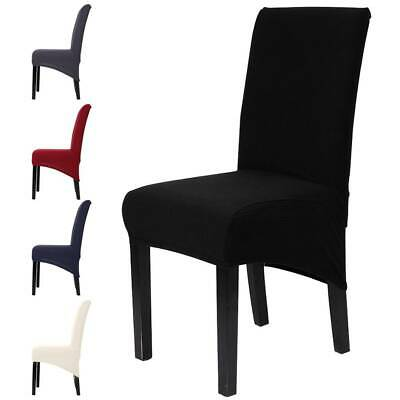£3.99 • Buy Dining Chair Covers Washable Knit Stretch Removable Chair Slipcovers High Back
