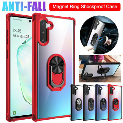 $ CDN5.32 • Buy For Samsung Galaxy Note 10 S9 Plus Military Armor Case Magnetic Ring Stand Cover