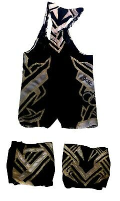 AU610.97 • Buy Wwe Chad Gable Ring Worn Hand Signed Wrestling Gear With Photo Proof And Coa 16
