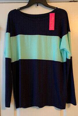 NWT Lilly Pulitzer Finn Top Resort Aqua High Maintenance Back Graphic Sz Medium • 60$