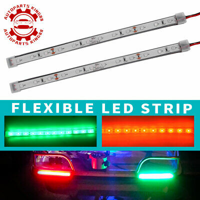 $7.59 • Buy 8  Red/Green 2835 SMD 12 LED Strip Light Waterproof For Car Truck Boat DC 12V