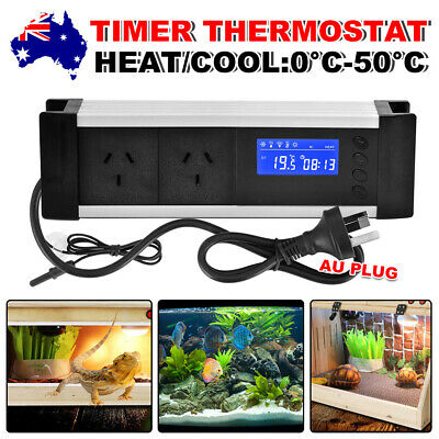 AU37.95 • Buy Reptile Thermostat Digital Aquarium Timer LCD Cooling Heating Temp Controller
