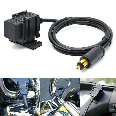 £11.12 • Buy Motorbike DIN Hella Plug To Dual USB Charger Socket For BMW Triumph Phone GPS