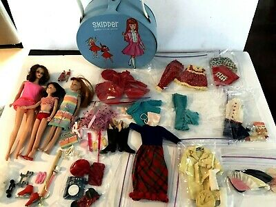 $ CDN399.99 • Buy Vintage Nice Lot Skipper Barbie Vinyl Case Dolls Clothes Accessories 1963 Mattel