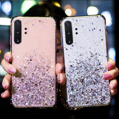 $ CDN4.13 • Buy For Samsung Galaxy Note 10 Plus S10 S9 S8 Glitter Star Clear Soft TPU Case Cover