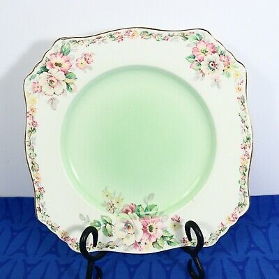 $ CDN18 • Buy Royal Winton Grimwades Apple Blossom Green  8 1/2  Luncheon Plate