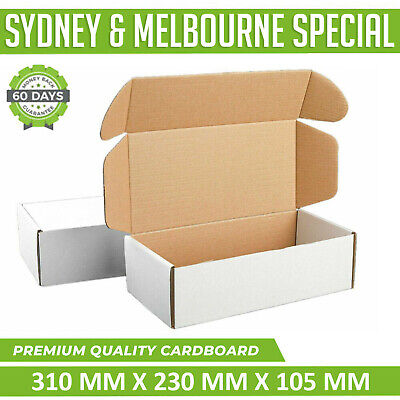 AU76.95 • Buy 100x Mailing Box Cardboard 310x230x105mm Shipping Diecut Carton A4 B2 BX2 White