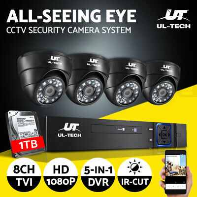 AU238.90 • Buy UL-tech CCTV Camera Security System Home DVR 1080P With 1TB Hard Drive