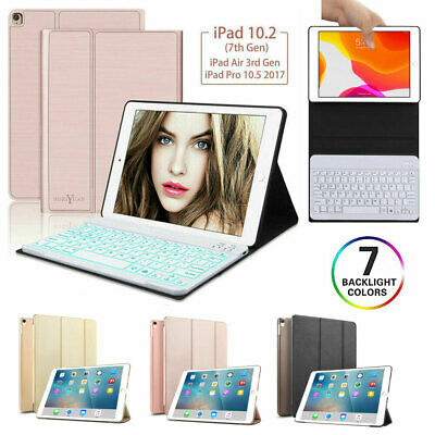 AU41.99 • Buy 7 Colors Backlit Bluetooth Keyboard Case For IPad 9.7  5/6th 10.2 7th 2019 Air 3