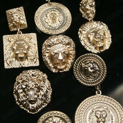 £3.99 • Buy CLIP ON Retro Lions BIG EARRINGS Vintage Style GOLD FASHION Lion Head Clips