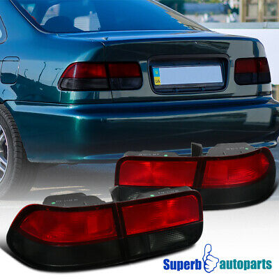 $86.98 • Buy For 1996-2000 Honda Civic 2Dr Coupe Tail Lights Brake Lamps Red/Smoke