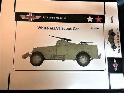 $19 • Buy 1/72 White M3A1 Scout Car (USA, USSR) +PE - NEW AGB 72010!
