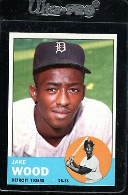 $12 • Buy 1963 Topps MID #453 JAKE WOOD Detroit Tigers Sharp/clean/TOUGH NM+ To NM/MT