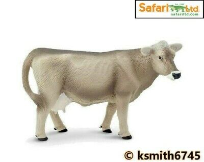 £7.25 • Buy Safari BROWN SWISS COW Solid Plastic Toy Farm Pet Dairy Animal Cattle * NEW *💥