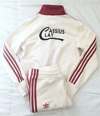 $350 • Buy Vintage Adidas Muhammad Ali Tracksuit Women's Size M RARE 2006 Cassius Clay